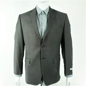 Calvin Klein Mabin Blazer Regular Fit Gray Wool